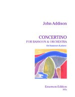 Concertino for Bassoon by Addison published by Emerson