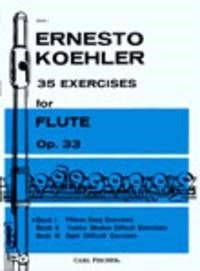 Kohler: 35 Exercises for Flute Opus 33 Book 1 published by Fischer