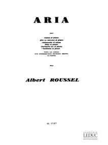 Roussel: Aria for Oboe published by Leduc