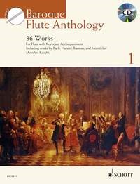 Baroque Flute Anthology Book & CD published by Schott