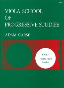 Carse: Viola School of Progressive Studies 4 published by Stainer & Bell