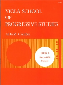 Carse: Viola School of Progressive Studies 5 published by Stainer & Bell