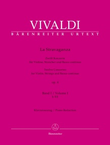 Vivaldi: La Stravaganza Opus 4 Volume I for Violin published by Barenreiter