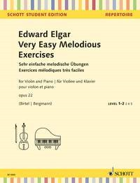 Elgar: Very Easy Melodious Exercises Opus 22 for Violin published by Schott