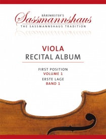 Sassmannshaus Viola Recital Album Volume 1 published by Barenreiter