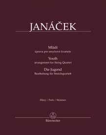 Mládí (Youth) for String Quartet by Janacek published by Barenreiter