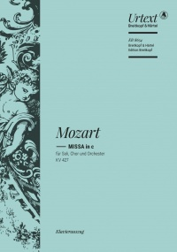 Mozart: Mass in C minor (K427) (K417a) published by Breitkopf - Vocal Score