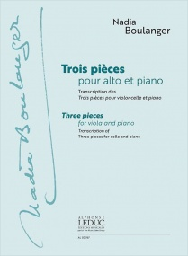 Boulanger: Three Pieces For Viola & Piano published by Leduc