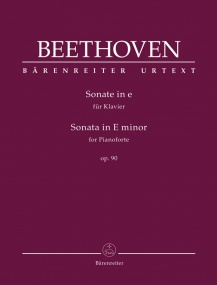Beethoven: Sonata in E Minor Opus 90 for Piano published by Barenreiter