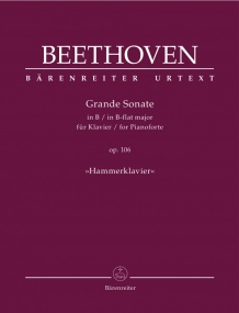 Beethoven: Sonata in Bb Opus 106 (Hammerklavier) for Piano published by Barenreiter