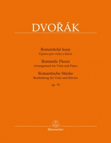 Dvorak: Romantic Pieces Opus 75 for Viola published by Barenreiter