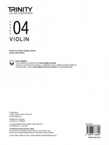 Trinity Violin Exam Pieces - Grade 4 (2020-2023) (Part Only)