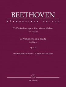 Beethoven: Diabelli Variations Opus 120 for Piano published by Barenreiter