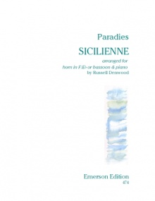 Paradies: Sicilienne for Horn published by Emerson