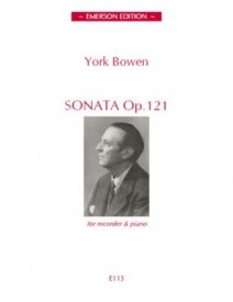 Bowen: Sonata Opus 121 for Recorder published by Emerson