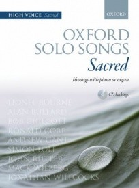 Oxford Solo Songs Sacred (High Voice) Book & CD published by OUP