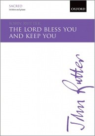 The Lord bless you and keep you SA/Men by Rutter published by OUP