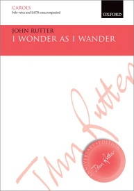 I wonder as I wander (Vocal Score) by Rutter published by OUP