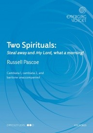 Two Spirituals CCBar by Pascoe published by OUP
