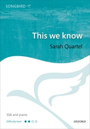 Quartel: This we know SSA published by OUP