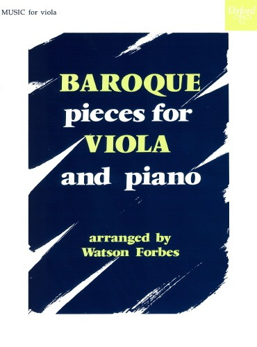 Baroque Pieces for Viola published by OUP