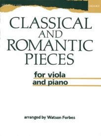 Classical and Romantic Pieces for Viola published by OUP