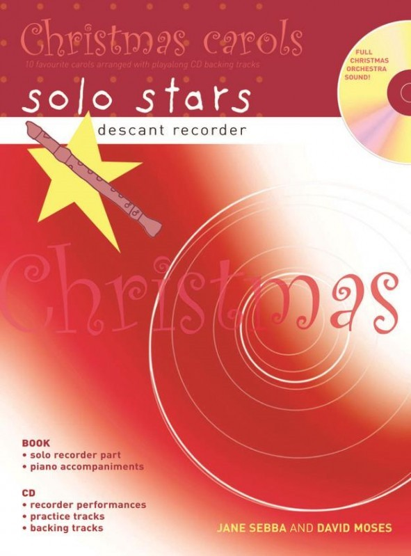 Solo Stars: Christmas Carols for Descant Recorder Book & CD published by A&C Black