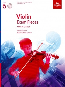 ABRSM Violin Exam Pieces 2020-2023 Grade 6 Score, Part & CD