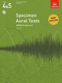 Specimen Aural Tests Grade 4 & 5 With CD published by ABRSM