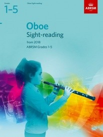 ABRSM Sight Reading Tests Grade 1 - 5 for Oboe from 2018