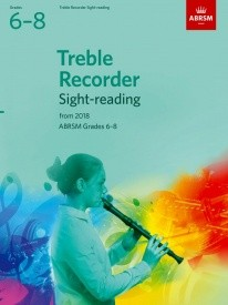 ABRSM Sight-Reading Tests Grade 6 - 8 for Treble Recorder from 2018