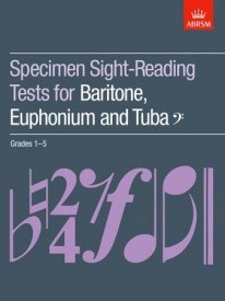 ABRSM Sight Reading Tests Grade 1 - 5 for Baritone, Tuba or Euphonium (Bass Clef)