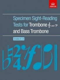 ABRSM Sight Reading Tests Grades 6 - 8 for Trombone