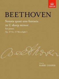 Beethoven: Sonata in C# Minor Opus 27 No 2 (Moonlight) for Piano published by ABRSM