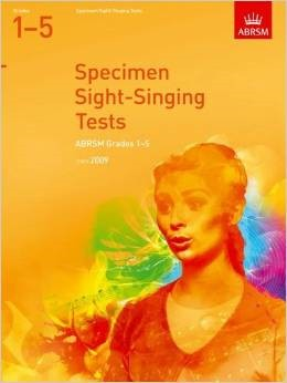 Sight Singing Tests Grade 1 - 5 published by ABRSM