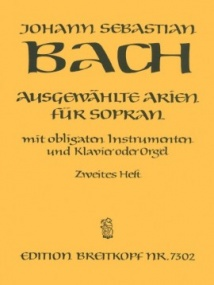 Bach: Selected Arias for Soprano Volume 2 published by Breitkopf