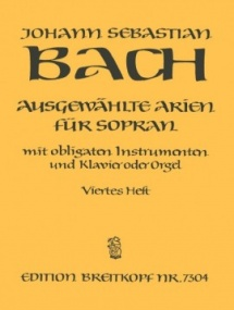Bach: Selected Arias for Soprano Volume 4 published by Breitkopf