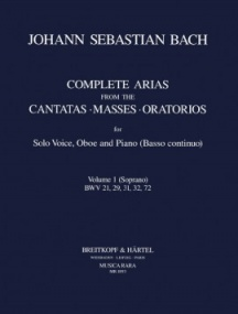 Bach: Complete Arias for Soprano, Oboe & Piano (BC) Volume 1 published by Breitkopf
