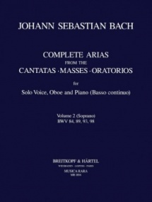 Bach: Complete Arias for Soprano, Oboe & Piano (BC) Volume 2 published by Breitkopf