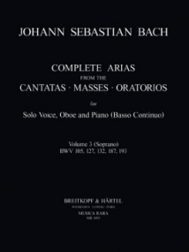 Bach: Complete Arias for Soprano, Oboe & Piano (BC) Volume 3 published by Breitkopf
