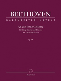 Beethoven: An die ferne Geliebte Opus 98 for High Voice published by Barenreiter