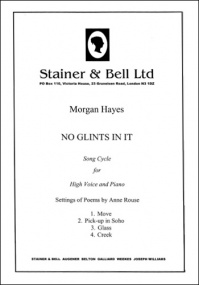 Hayes: No Glints in it published by Stainer & Bell