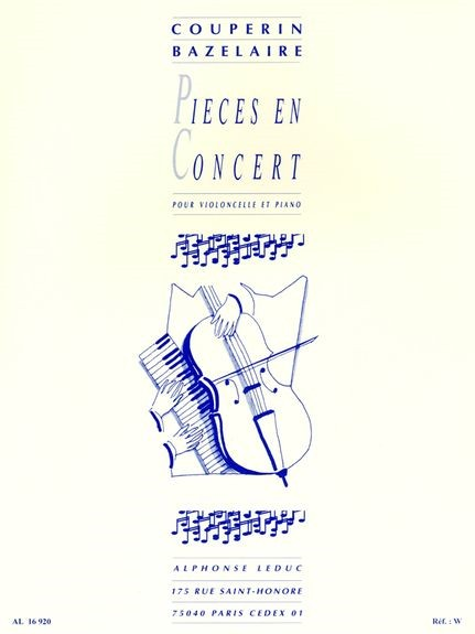 Couperin: Pieces En Concert for Cello published by Leduc