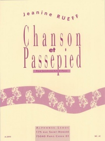 Rueff: Chanson Et Passepied for Alto Saxophone published by Leduc