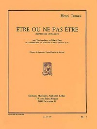 Etre ou ne pas être for Tuba by Tomasi published by Leduc