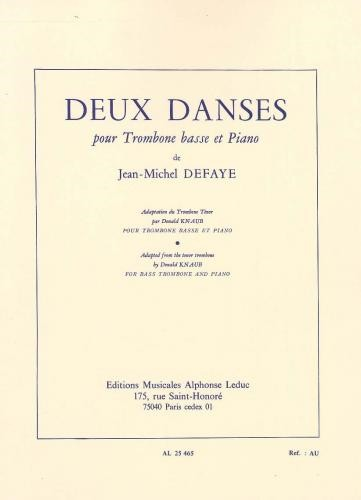 Deux Danses (2 Dances) for Bass Trombone by Defaye published by Leduc