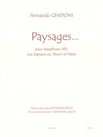 Ghidoni: Paysages for Saxophone published by Leduc
