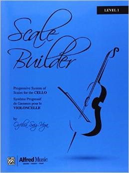 Scale Builder for Cello Level 1 published by Alfred