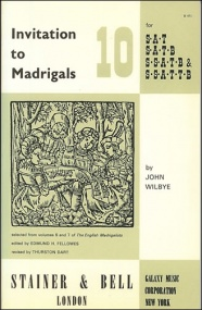 Invitation to Madrigals Book 10 (SAT/SATB/SSATB/SSTTB) published by Stainer & Bell