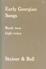 Early Georgian Songs Book 2 for High voice published by Stainer & Bell